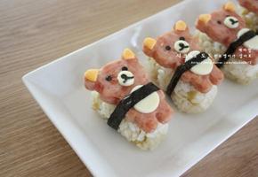 스팸요리 - 리락쿠마 스팸 주먹밥