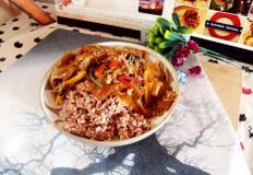 #굴소스와 고춧기름소스를 이용한 양장피잡채밥만들기 #양장피잡채를 만들어서 양장피스럽지 않게 덮밥으로 즐기기!!