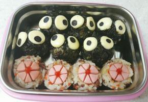 어린이집 소풍도시락 꽃주먹밥, 먼지주먹밥 제일좋아해!!
