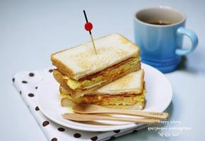 햄치즈야채토스트! 엄마표 길거리 토스트!