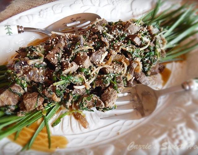 봄철 보양식 [소간 부추볶음]