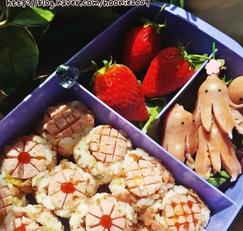 봄소풍 도시락 소세지꽃주먹밥 만드는법
