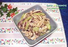 차게 먹는 여름 냉채요리/버섯 오징어냉채