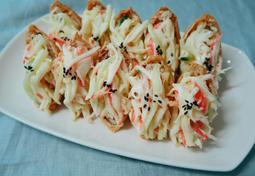 크래미유부초밥! 간단하고 맛있게!