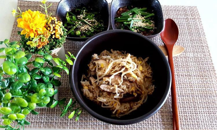 건강한 다욧 한그릇 귀리 버섯콩나물밥