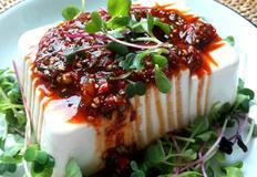 연두부 채소 샐러드
