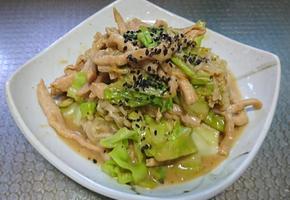 잡채용 고기를 이용하여 일본식 돼지고기숙주나물볶음 황금레시피