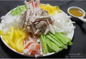 닭가슴살냉채 겨자소스와 함께 맛있는 다이어트해요 :)