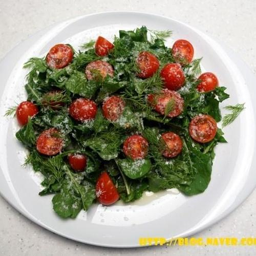 채식 루꼴라샐러드