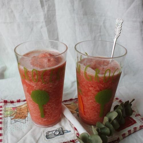 토마토 슬러시. 토마토 스무디.토마토 주스 만들기. 날 더울땐 시원한 슬러시 한잔.