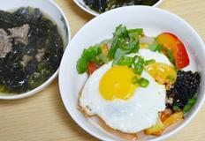 자두곤약비빔밥