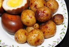 알감자조림/감자조림/계란장조림/장조림/햇감자/자주감자/감자/찐감자