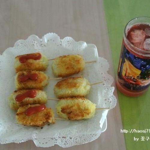 간식으로 좋은 한입크기 감자핫도그 만들기