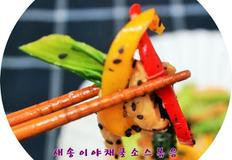 야채 굴소스볶음 중화풍으로 볶은 야채 굴소스볶음