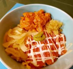 연어덮밥 ..사케동 만들기 (특급 와사비 마요네즈 소스)
