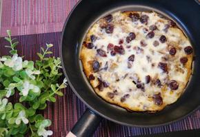 떠먹는 단호박피자 마늘,견과류,건과일 듬뿍 부드러운 아이들간식