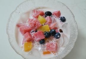 더운여름 인생술집 우유수박화채 만들기
