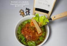 김치 도토리묵사발 만들기(간단 집밥 레시피)