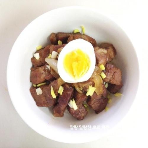 간단한 덮밥요리, 단짠단짠 차슈 덮밥!!