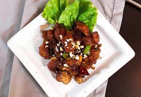 매콤 닭강정 / 남은치킨 활용하기