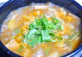 보글보글 맛있는 된장찌개 끓이기♪ 햄된장찌개