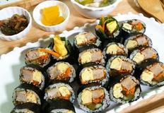 돈까스 김밥만들기
