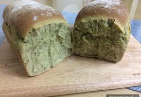 통밀 녹차식빵 만들기 : 통밀 100%