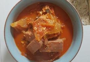 간단한 찌개끓이기 : 김치찌개 맛있게 끓이는 법 (feat. 깡통햄)