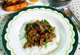 가지덮밥(초간단요리)