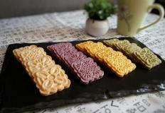 [명절베이킹]땅콩쿠키,단호박쿠키,자색고구마쿠키,녹차쿠키 - 4가지 맛과 색이 있는 쿠키