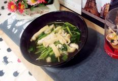 #오늘뭐먹지 참나물유부조림 만들기 #일본식의 육수에 참치액젓과 국간장으로 맛을 낸 시원하고 향긋한 참나물유부조림!!