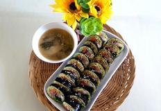 건강한 웰빙김밥  양파부추김밥