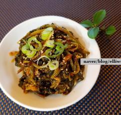 신열무김치 볶음...오래된 열무김치 소생법