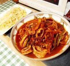 #수요미식회 오징어보쌈만들기 #영등포 여로집스타일인 얼얼하게 매운 오징어보쌈과 콩나물!!