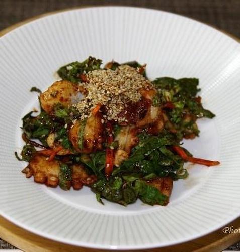 문어요리 3가지 _ 문어초무침,문어숙회,문어초밥