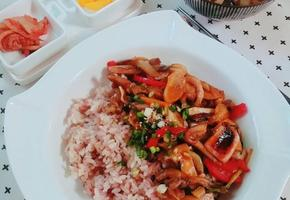 해물버섯덮밥(초간단 한그릇요리)