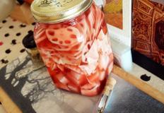 #아로니아가루를 넣은 연근피클만들기 #아삭아삭 새콤달콤한 연근과 무를 넣고 피클만들기!!