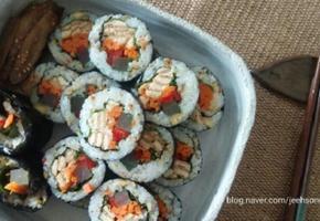 유부김밥:시판조미유부로 간편하게 맛내기