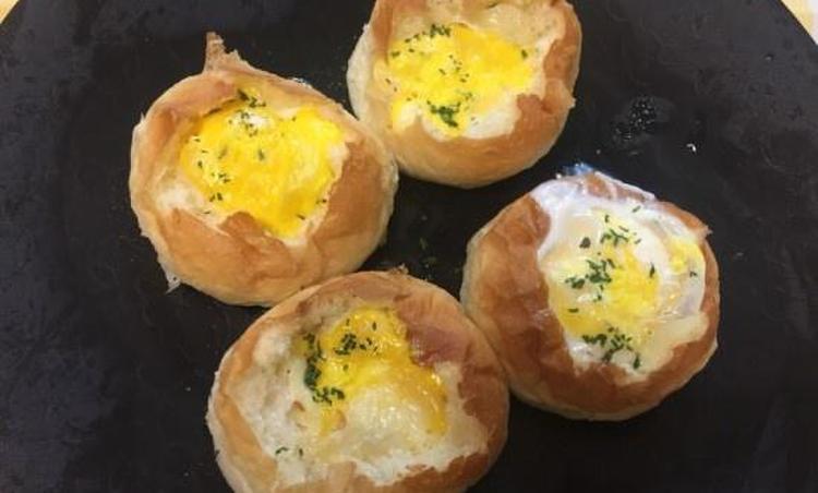 모닝빵으로 5 분만에 계란빵을 만들어보세요