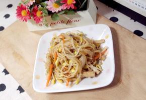#초스피드요리 아삭아삭하게 씹히는 콩나물어묵잡채 만들기