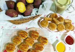 아이간식으로 좋은 고구마 크로켓(햇 고구마 고로케 만들기)