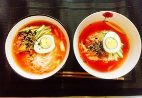 시판냉면육수육수를 이용한 김치말이국수 , 김치말이밥