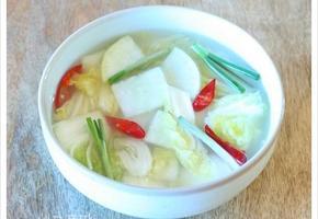 고구마 먹을때 찰떡 궁합인 달근한 무 넣고 만든 배추 물김치