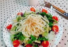 냉우동 샐러드(초간단레시피)