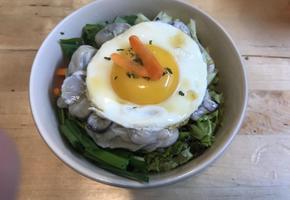 초고추장 굴 비빔밥