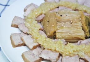 마늘소스 곁들이는 돼지고기수육