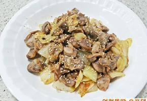 오포댁네 상시 냉동실 보관 중인 닭똥집 마늘 볶음