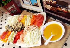 #집밥백선생 해물냉채만들기 #냉채소스에 찍어서 먹는 대파와 해산물, 그리고 닭가슴살까지!!