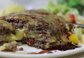 한우 고구마샐러드 치즈 퐁당~ 함박스테이크!