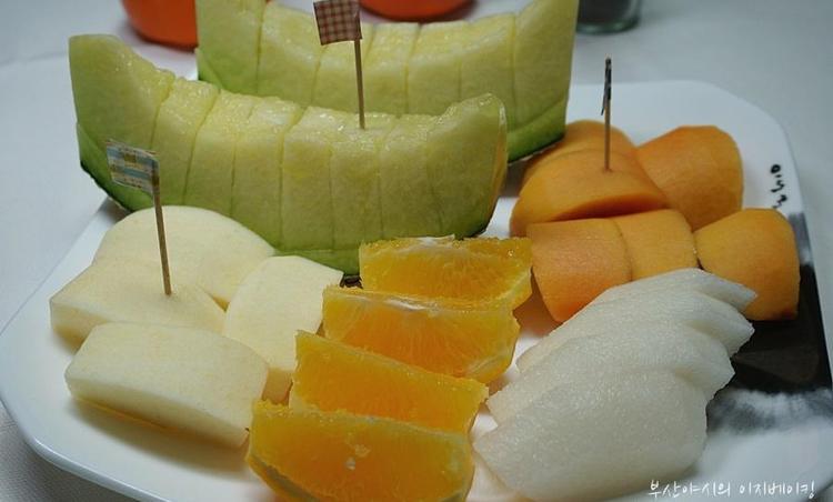 과일 상차림 + 과일 예쁘께 깍는 방법 + 과일 담는 방법